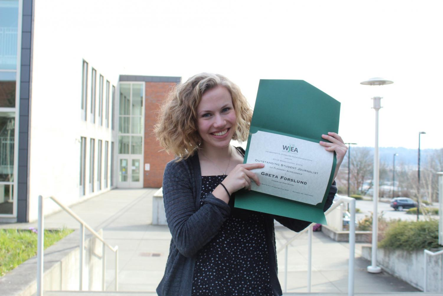 Greta Forslund is a three-year veteran of the Timberline journalism program.