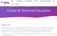 screen shot of CTE page from JEA