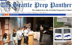 screenshot of Seattle Prep homepage