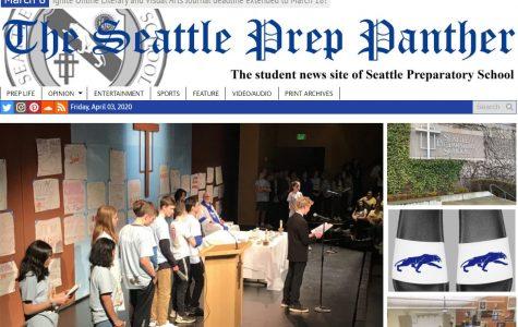 screenshot of Seattle Prep homepage
